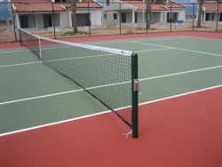 Afyon Bahçeşehir sitesi tenis kortu