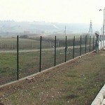 Düz boru direkli çit uygulama