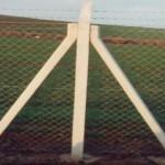 Eğik Beton Direkli Çit Uygulaması