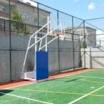 dört direk seyyar ön tarafı koruyuculu basketbol potası