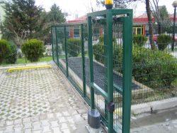 Panel çit sürgülü araç kapısı