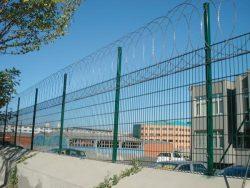 Panel çit üzeri jiletli tel uygulaması